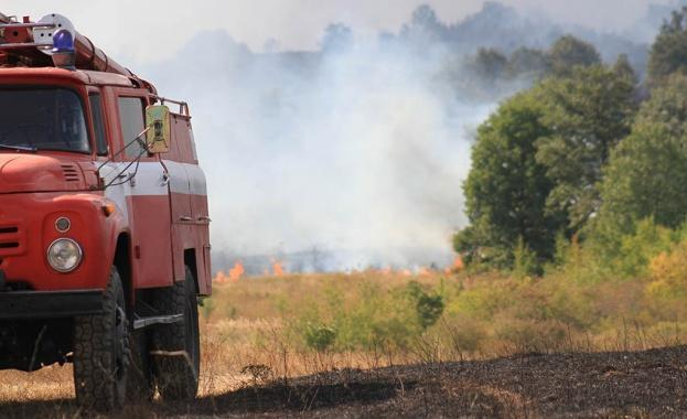 огнеборци, пожар, Agrozona.bg