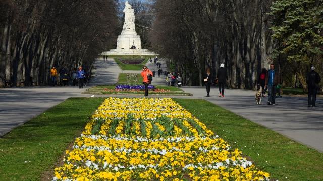 Цветен килим се разстила в Морската градина във Варна